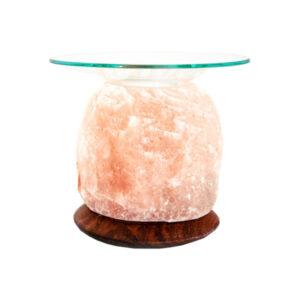 Арома лампа хималайска сол с дървена основа кристал